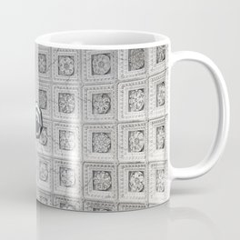 The network of flower ornaments on the ceiling of the hall of St. Isaac's Cathedral. Saint-Petersbur Coffee Mug