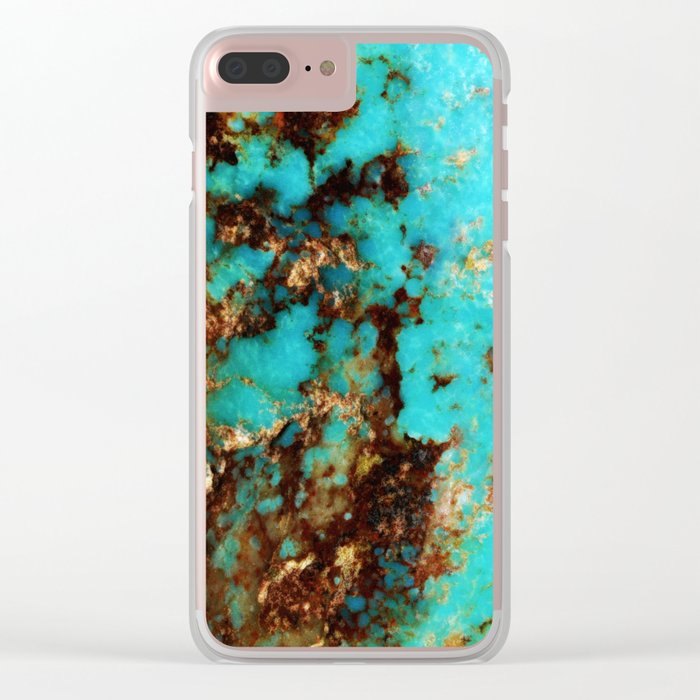 Turquoise I Clear iPhone Case