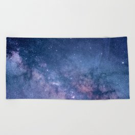 Milky Way Stars (Starry Night Sky) Beach Towel
