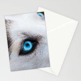 Siberian Husky Eyes (Color) Stationery Cards