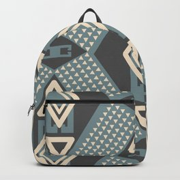 Little and big geometric shapes in gray Backpack