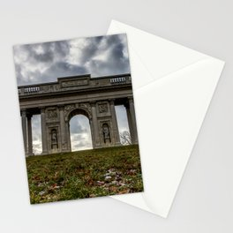 Colonnade Reistna in Valtice with dramatic clouds Stationery Cards