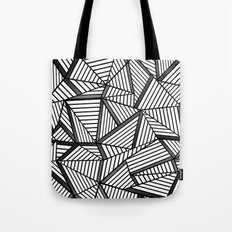 Ab Lines 2 Black and White Tote Bag