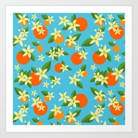 Orange Blossom Daydreams Art Print
