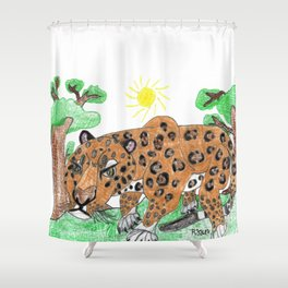 Indian Leopard Shower Curtain