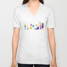 Adventure time characters Unisex V-Neck