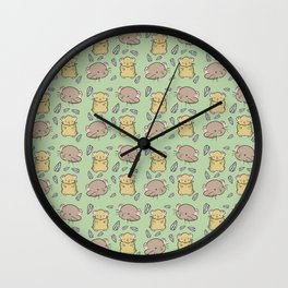 Hamster Pattern Wall Clock
