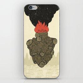 Endure Burning - Viktor Frankl Quote - wood heart iPhone Skin