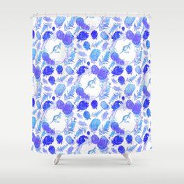 Beautiful Australian Native Floral Print with Kangaroos Shower Curtain