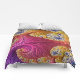 Pink Purple & Orange Swirls Comforters