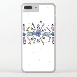 geometric flower crown Clear iPhone Case
