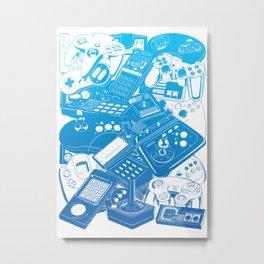 Joysticks & Controllers Metal Print