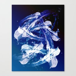 Snowy Abstract Painting Canvas Print