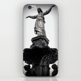 The Lady Of Fountain Square iPhone Skin