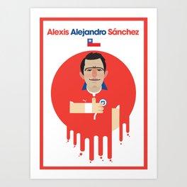 Alexis Sanchez - Chile Art Print