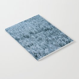 Winter pine forest aerial - Landscape Photography Notebook