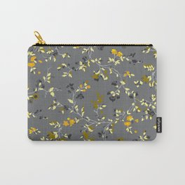 floral vines - greys, mustards & greens Carry-All Pouch