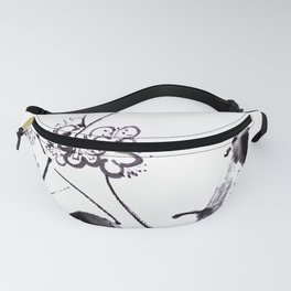 Plum blossom sumie ink Fanny Pack