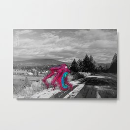 Unseen Monsters of Mount Shasta - Rossivink Deshla Metal Print