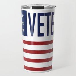 US American Flag Army Veterans Gift Travel Mug