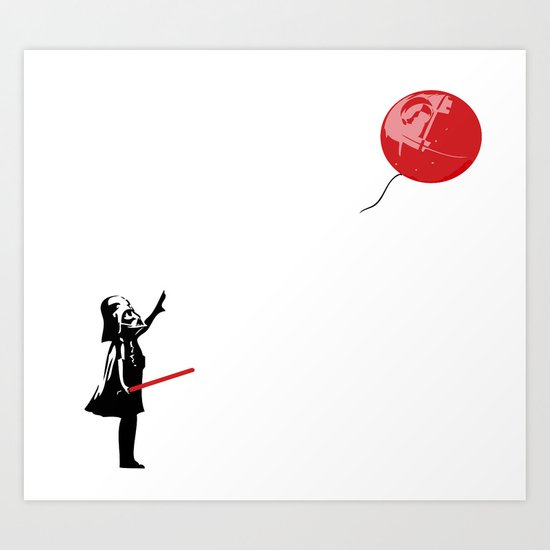 That's No Banksy Balloon (It's a Space Station) Art Print