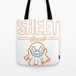Sheet Faced Halloween Design Funny Costume Image Tote Bag