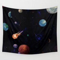 color galaxi Wall Tapestry