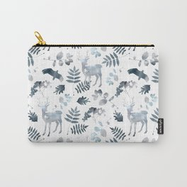 Northern forest (white pattern) Carry-All Pouch