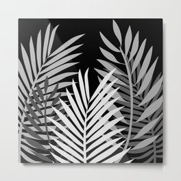 TROPICAL PALM LEAVES 1 Metal Print