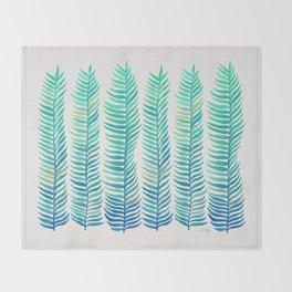 Seafoam Seaweed Throw Blanket