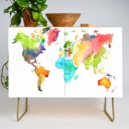 Watercolor World Credenza