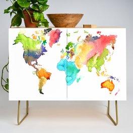 Watercolor World Credenza
