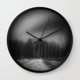 mysterious forest Wall Clock