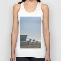 santa monica Tank Tops featuring Santa Monica Beach by Danny T