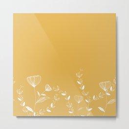 Minimal Floral Metal Print