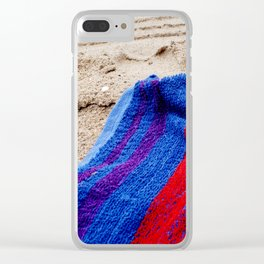 Beach Towel Clear iPhone Case