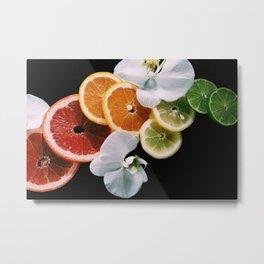 Rainbow of Citrus Metal Print