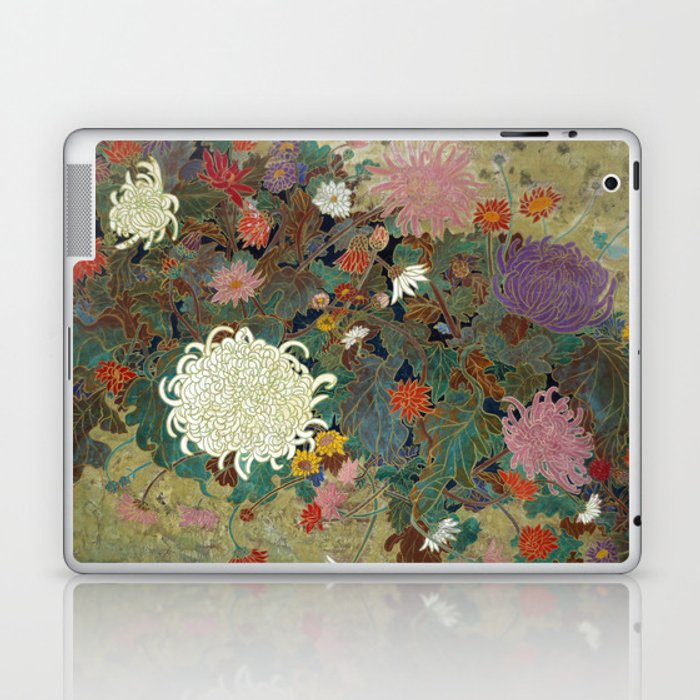 flower【Japanese painting】 Laptop & iPad Skin