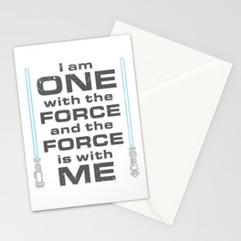 Force is with Me - Blue Stationery Cards
