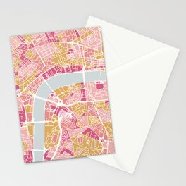 Colorful London map Stationery Cards