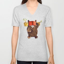 No Care Bear - My Sleepy Pet Unisex V-Neck