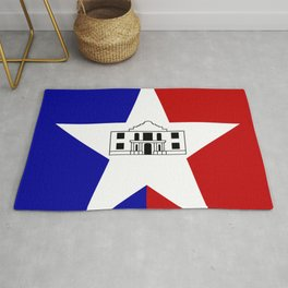 American cities-  Flag of San antonio Rug