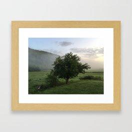 Good Misty Morning Framed Art Print