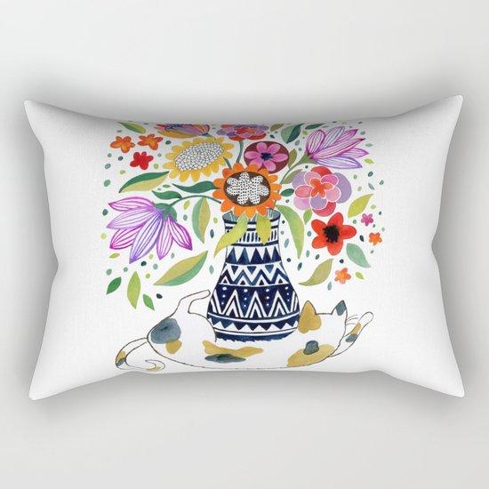 Calico Bouquet Rectangular Pillow