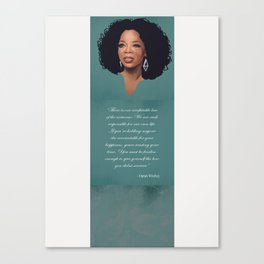 Oprah Winfrey Quote Canvas Print