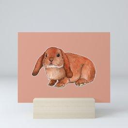 Red rabbit ram Mini Art Print