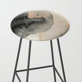 Peace and Quiet [2]: a pretty, minimal abstract piece in gray and peach by Alyssa Hamilton Art Bar Stool