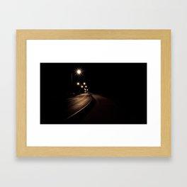 Night Road Framed Art Print