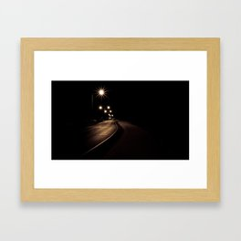 Night Road Framed Art Print
