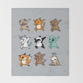 Dabbing Party Throw Blanket